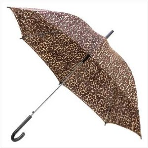 Safari Leopard Animal Print Chic Nylon Rain Umbrella