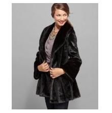 Jones New York Coat, Faux Fur Long Bell Sleeve