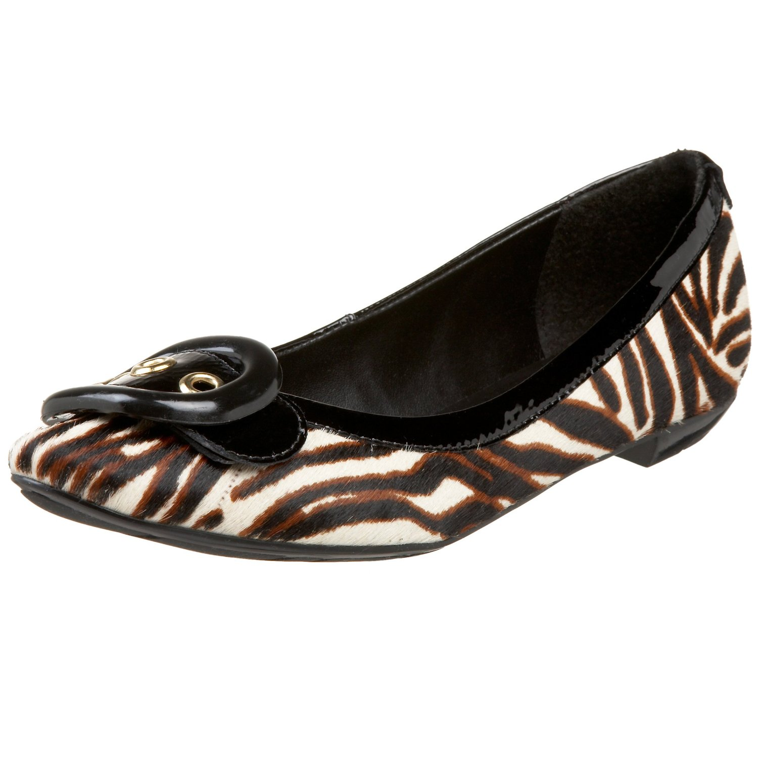 Joseph Griffin Zebra Flint Stone Flat Shoes