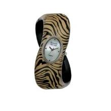 Kenneth Jay Lane Women's Tiger Print Cuff Watch