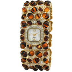 Kenneth Jay Lane Women's Tiger's Eye Cabochon Watch