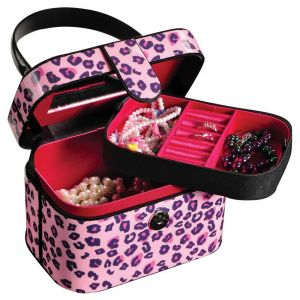 Leopard Print Jewelry Box By Mele