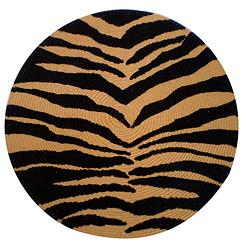 Tiger Round Braided Placemats Set of 6