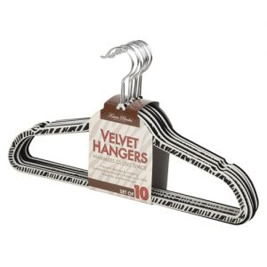 Zebra 10 Pack Velvet Hangers Dorm Co