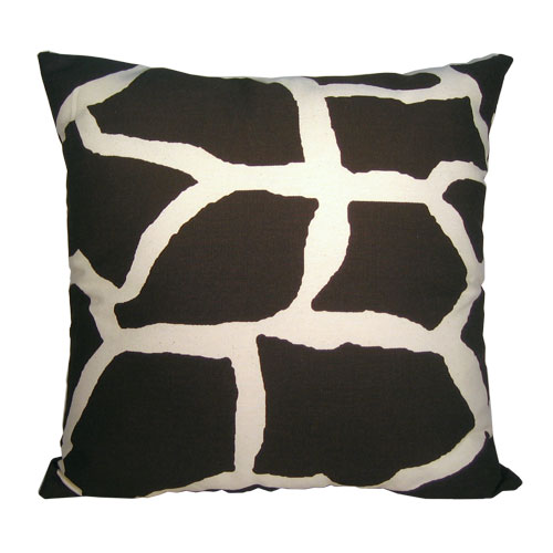 Giraffe Print Decorative Pillow with Removable Cover
