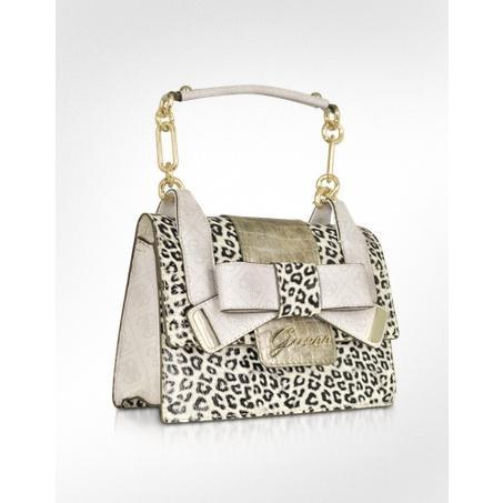 Guess Laurita – Top Zip Cheetah Animal Print Handbag