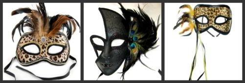 animal print Venetian Masks