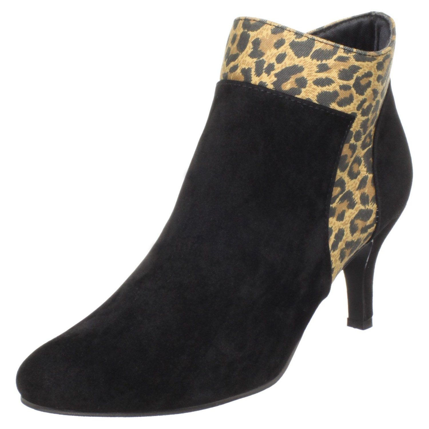 Annie Shoes Leopard Trim Women's Bliss Bootie