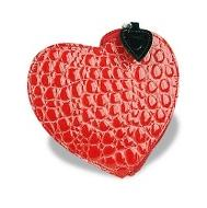 Fontanelli Croco Heart Coin Holder Wallet
