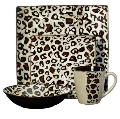 Leopard Dinnerware Set, 16 Pc.