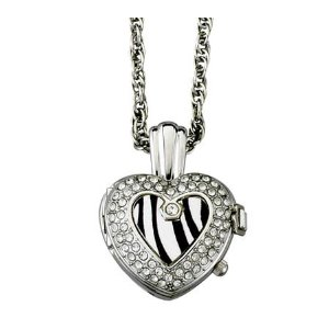 Zebra Heart Shaped Pendant Watch