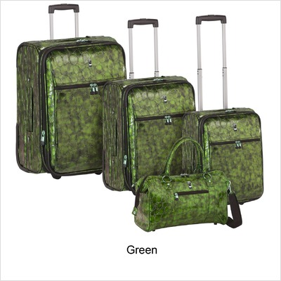 Travel Concepts – Metallic Croco 4 Piece Luggage Set