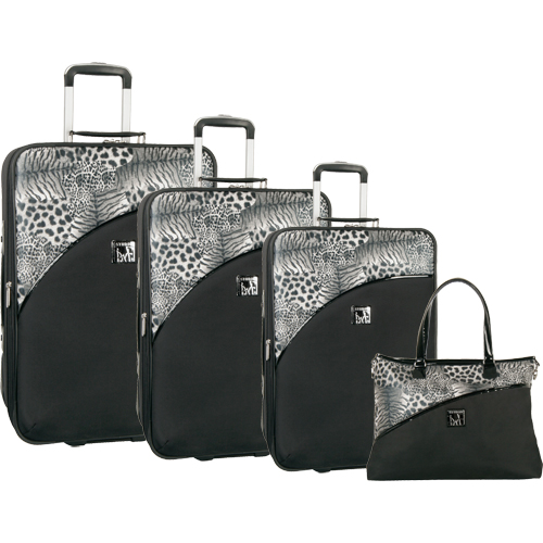 Diane von Furstenberg Animal Print 4 Piece Luggage Set