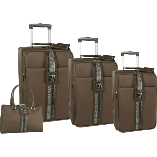 Diane von Furstenberg Luggage Snake 4 Piece Luggage Set
