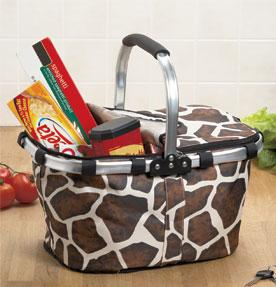 Giraffe Folding Shopping Basket