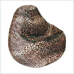 Leopard Animal Print Large Velvet Leopard Bean Bag