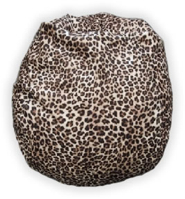 MicroFibres Leopard Bean Bag Chair