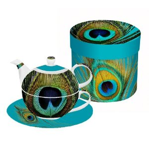 Paperproducts Design Paradise Peacock Tea for One Set