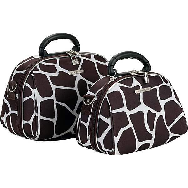 Rockland Luggage 2 Piece Cosmetic Case Set Giraffe – Toiletry Kits