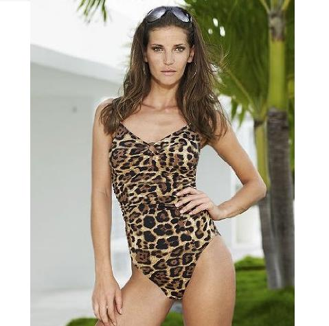 Spiegel Leopard Ring Accent One Piece Maillot Swimsuit