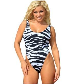 UjENA Zebra Print One Piece Swimsuit