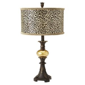 Cheetah Print Table Lamp