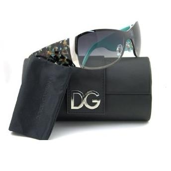 Dolce Gabbana Animal Print Sunglasses Aqua