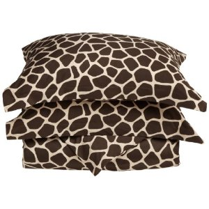 Regal 300 Thread-Count Giraffe Print 2-Piece Duvet Set