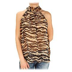 Dolce & Gabbana Tiger Print Sleeveless Top