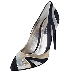 Dolce & Gabbana Women's Zebra Metallic Suede Pumps