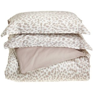 Regal 300 Thread-Count Cheetah Print Duvet Set