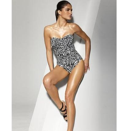 Zebra Shape fx One Piece Bandeau Control Swimsuit