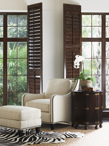 Tommy Bahama chair and ottoman