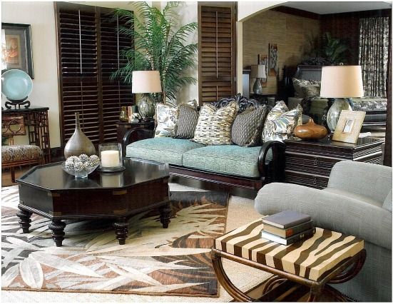 Tommy Bahama living room design