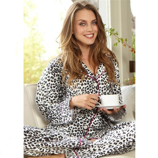 Snow Leopard Bedhead Classic Sateen Stretch Pajamas
