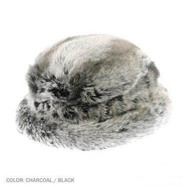 Faux Fur Animal Print Hat