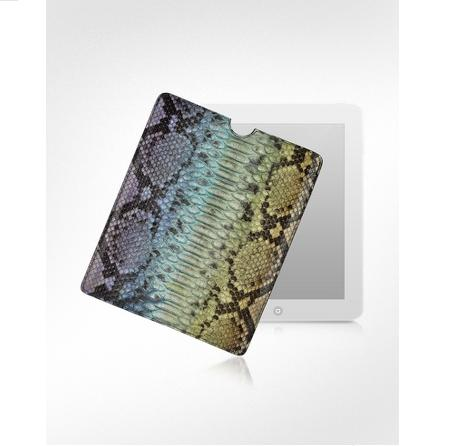 Ghibli Python Snake Skin Leather iPad Case