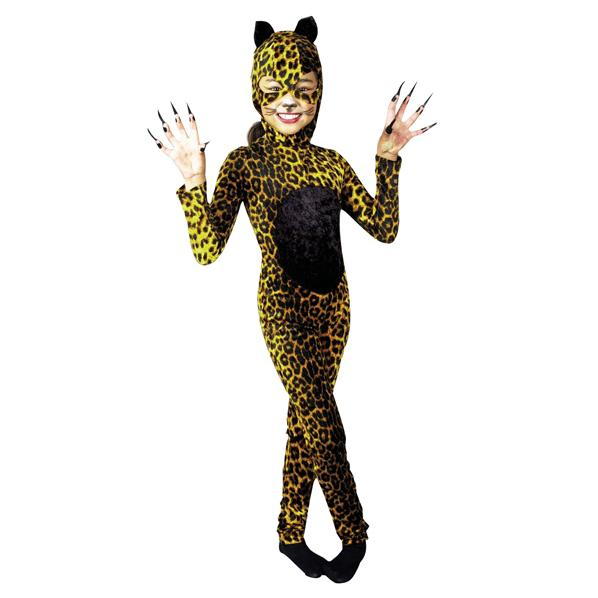 Girls Cheetah Cat Halloween Costume