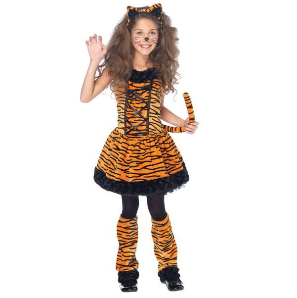 Girls Tiger Halloween Costume
