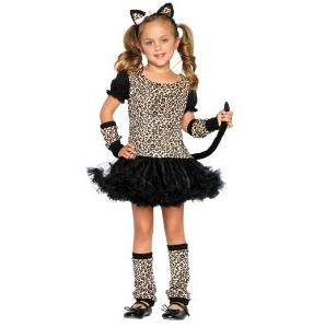 Child Little Girl Leopard Halloween Costume