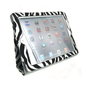 Portfolio Leather Case for iPad 2 Metallic Zebra Print