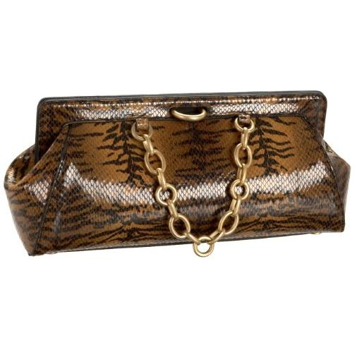 Stuart Weitzman Collection Tiger Print  Mini Clutch Bag