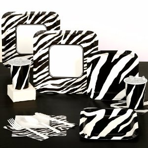 Animal Print Zebra Standard Pack for 8 Party Supplies