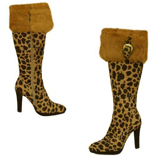 Cochni Tall Dress Boots for Women – Leopard
