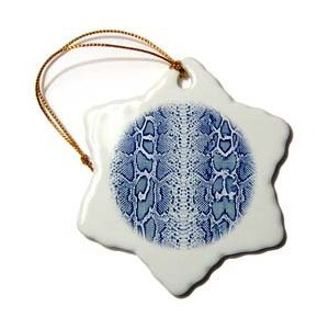 Janna Salak Designs Blue Snakeskin Animal Print Ornament