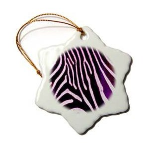 Janna Salak Designs Purple Zebra Animal Print Christmas Ornament