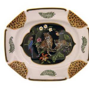 Lynn Chase Leopard Platter Jaguar Jungle Collection