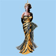 Pack of 24 Marilyn Monroe in Tiger Dress Christmas Ornaments