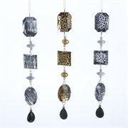 Pack of 24 Jungle Animal Print Stone Dangle Christmas Ornaments