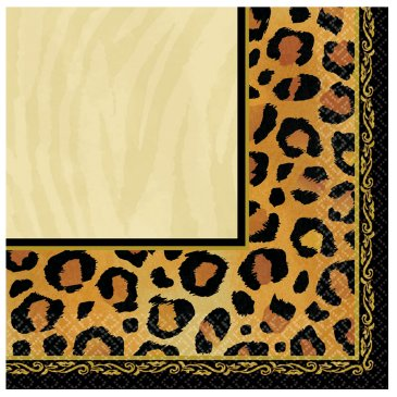 Safari Leopard Print Lunch Napkins